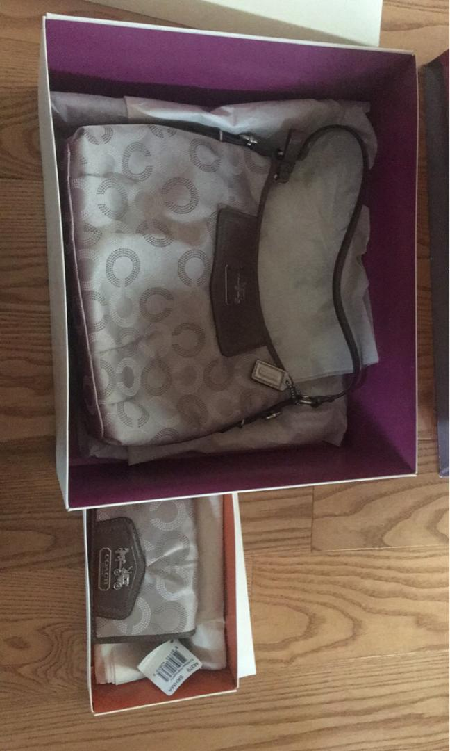 Coach matching wallet and bag