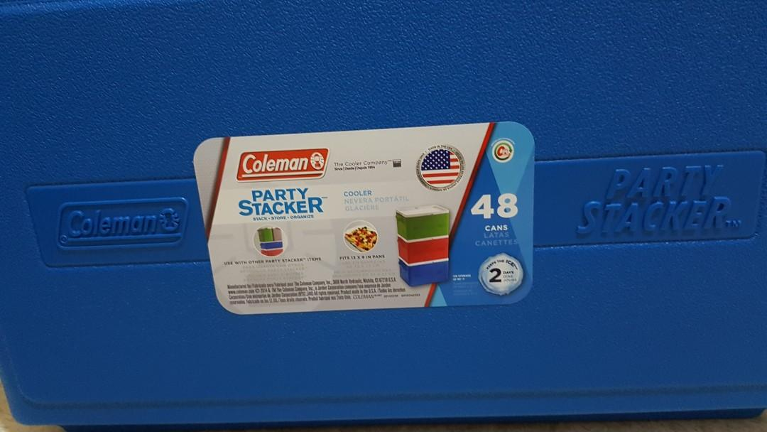 Coleman Party Stacker Cooler Box 48 Can Stacker, Made in USA
