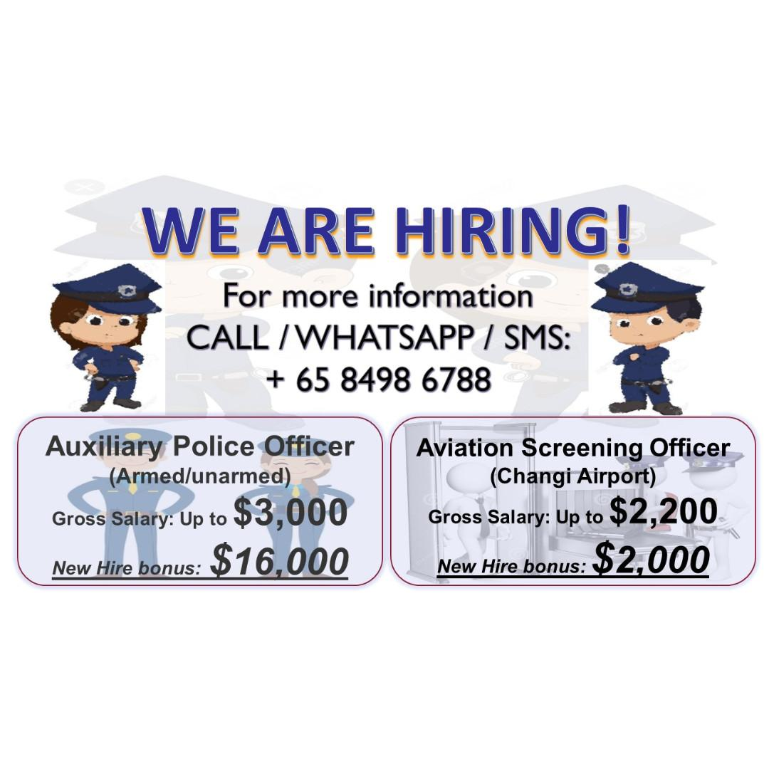 AIRPORT SCREENING OFFICER - 4 WORK DAY 2 OFF - Bonus $2000