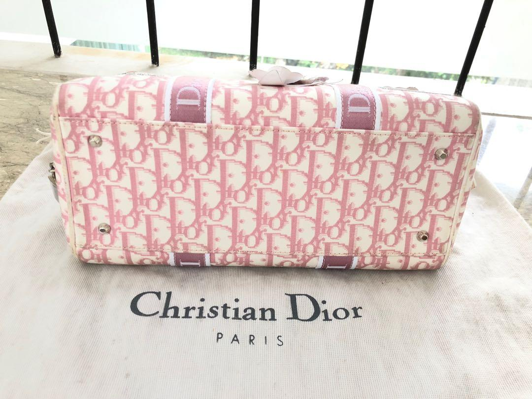 Dior Monogram Flower Boston Bag