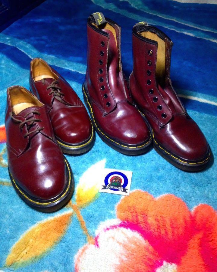 Docmart dr martens red cherry murah