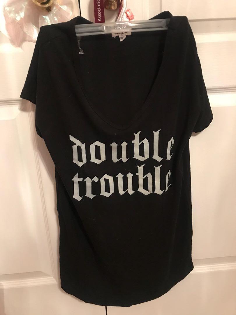double trouble vneck top