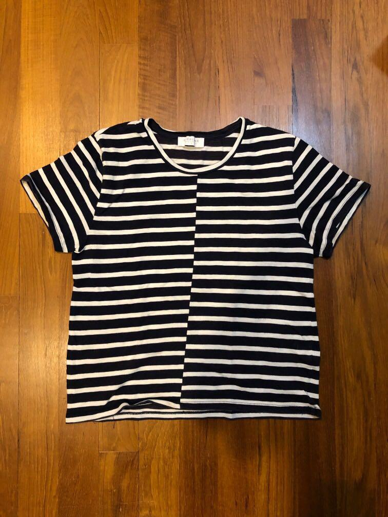 Everlane Navy and White Striped Top