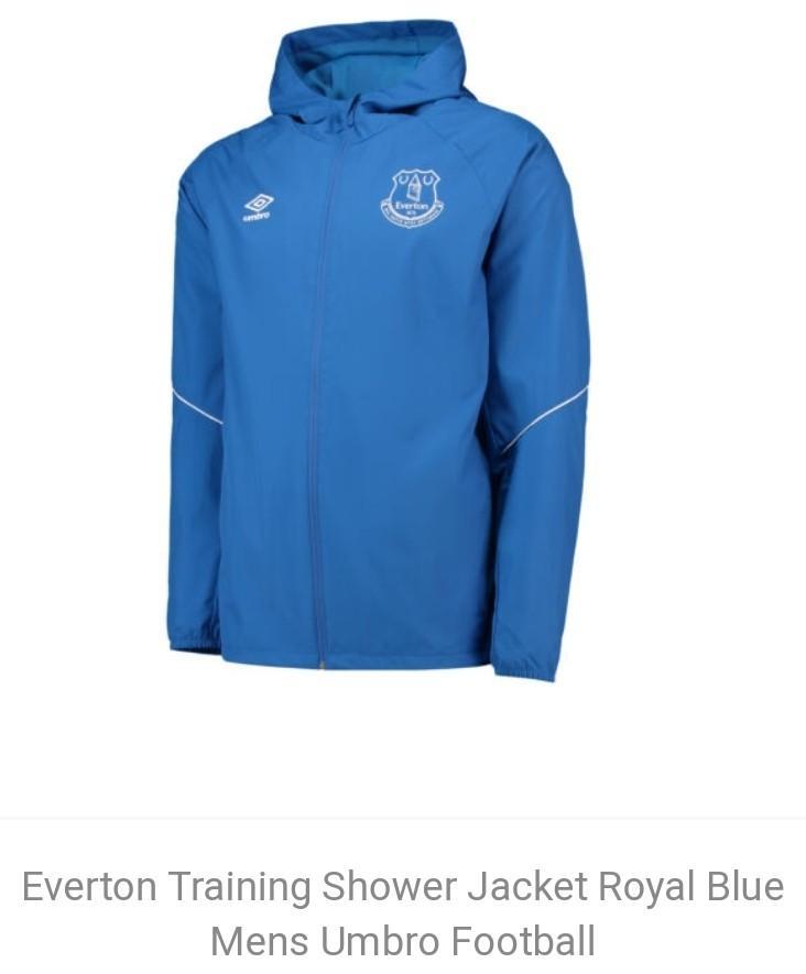 Everton Training Shower Jacket Dark Blue Mens Umbro Football