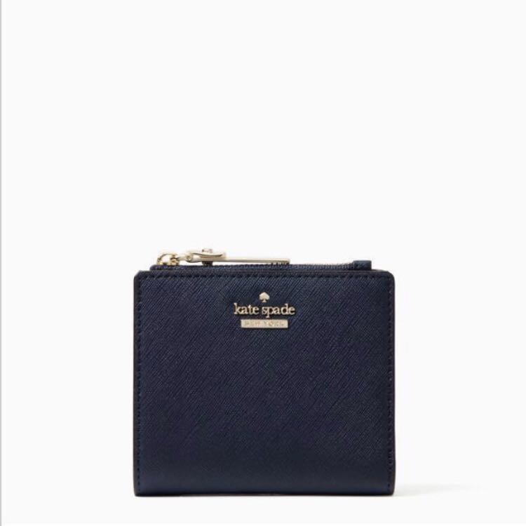 df90aa59b EXTREMELY RARE INSTOCK Kate Spade Cameron Street Adalyn Small Bifold Wallet  Twilight Midnight Dark Navy Blue, Women's Fashion, Bags & Wallets, ...