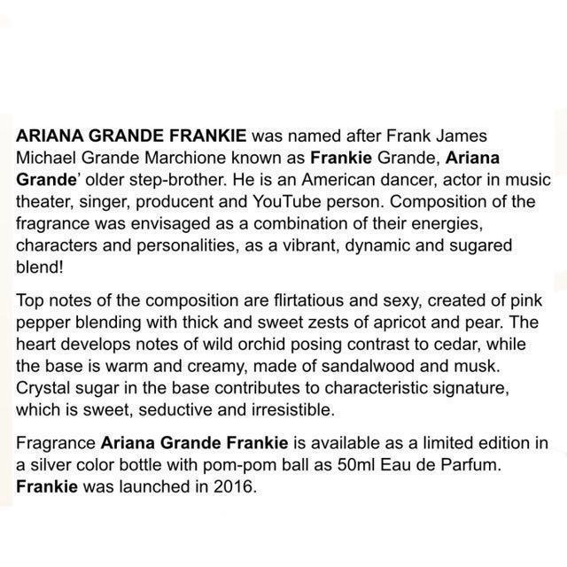 FRANKIE BY ARIANA GRANDE LIMITED EDITION EAU DE PARFUM