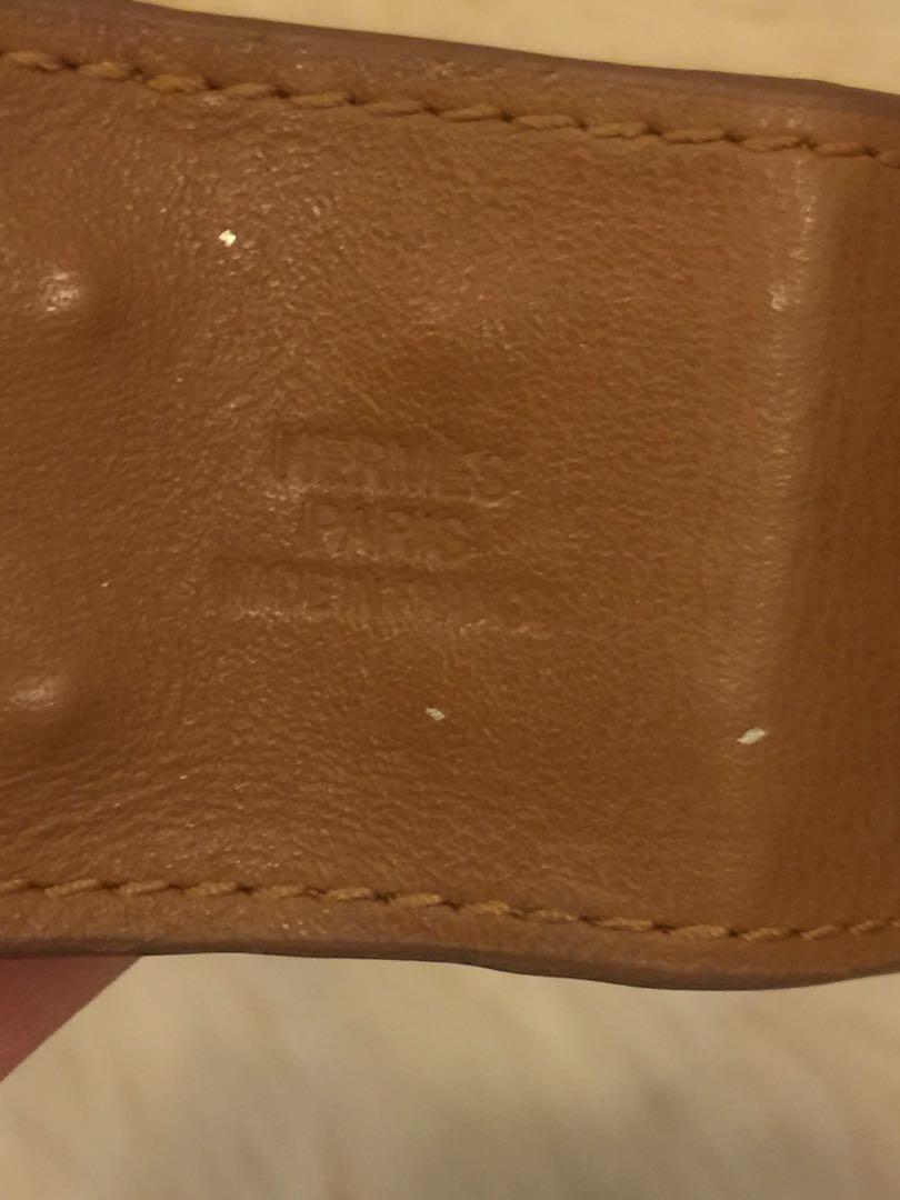Gelang hermes miror quality full leather tebal mewah mirip asli