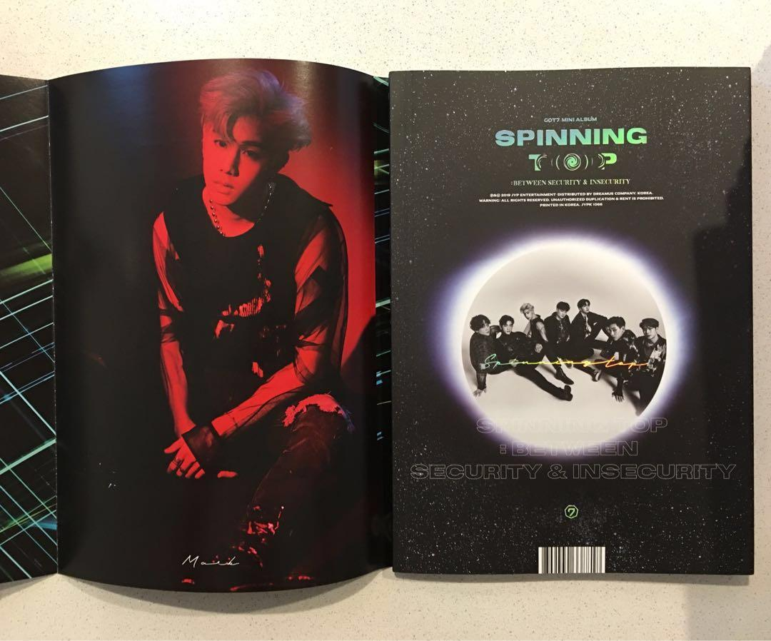 ✨GOT7✨ SPINNING TOP : BETWEEN SECURITY & INSECURITY MINI ALBUM - INSECURITY VERSION