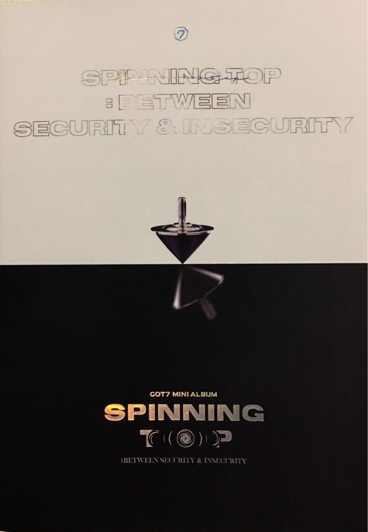 ✨GOT7✨ SPINNING TOP : BETWEEN SECURITY & INSECURITY MINI ALBUM - SECURITY VERSION