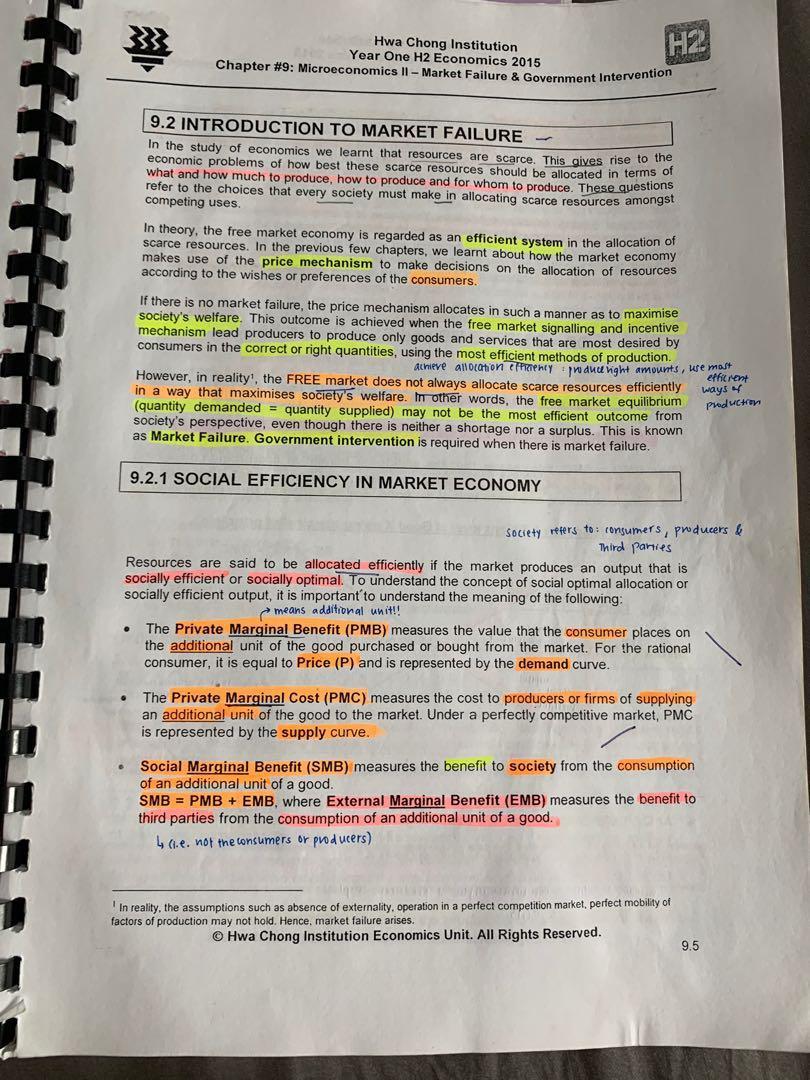Hwa Chong notes econs bundle