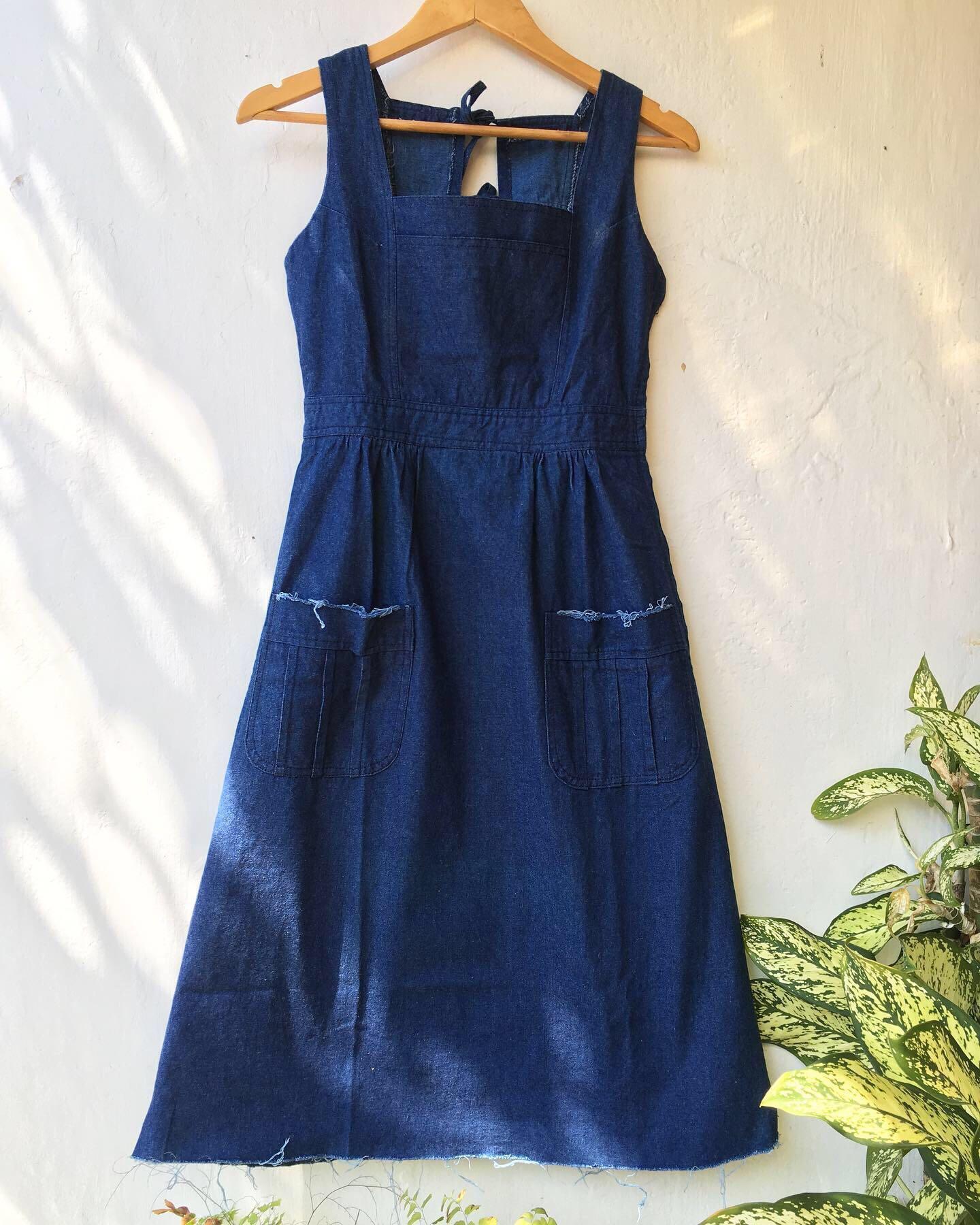 Japanese lace Denim Dress