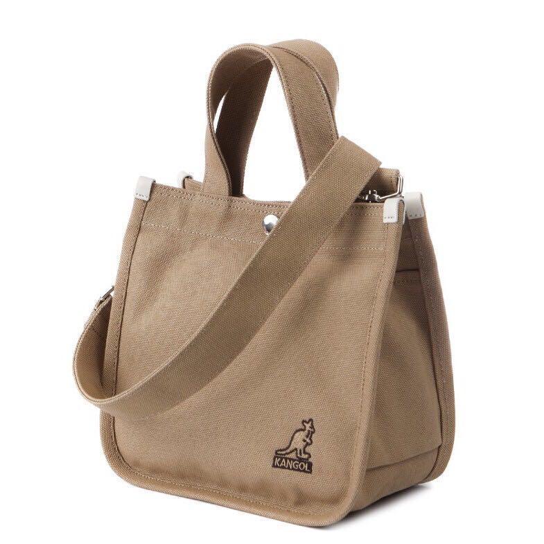 全新現貨一個🔥kangol 帆布包 袋鼠 側背包 小方包 卡其 袋鼠包 kangol包