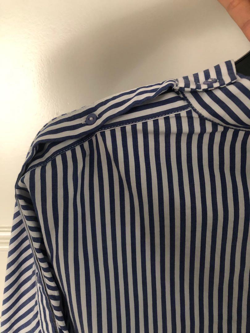Kemeja stripes wanita Pomelo