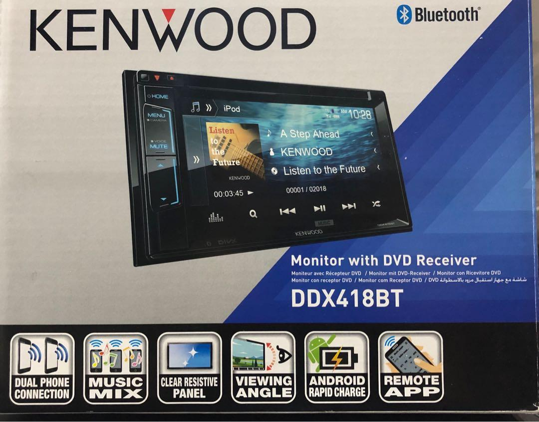 Kenwood car audio DDX418BT - Monitor with DVD receiver for