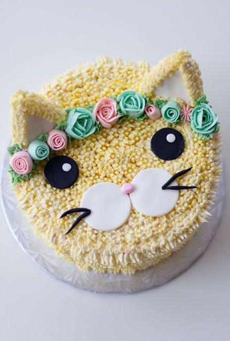Surprising Kitty Cat Birthday Cake Custom Cakes Food Drinks Baked Goods Funny Birthday Cards Online Inifofree Goldxyz