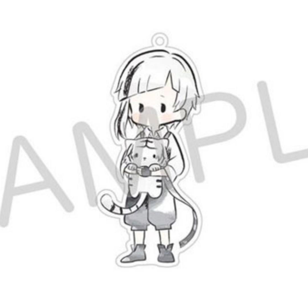 (Pending) [LF takers] [PO] Bungou Stray Dogs - Nakajima Atsushi Retro  Chikku acrylic keychain