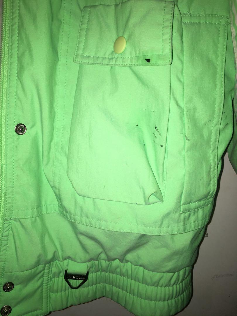 Lime green retro jacket