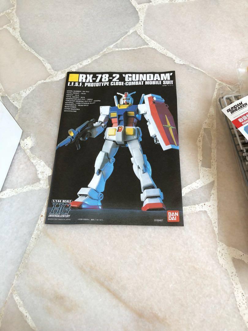 Limited edition hguc 1/144 gundam breaker 'Rc-78-2 Gundam & Zaki II special color