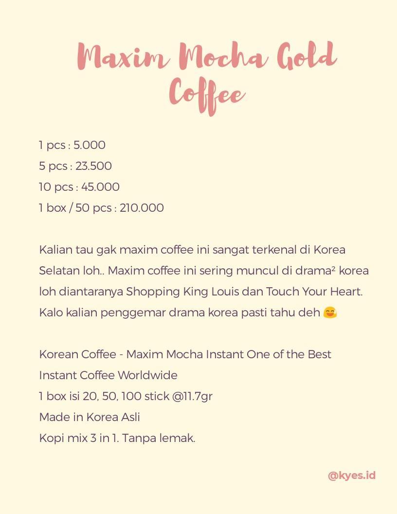 Maxim Mocha Gold Coffee #SociollaCarousell