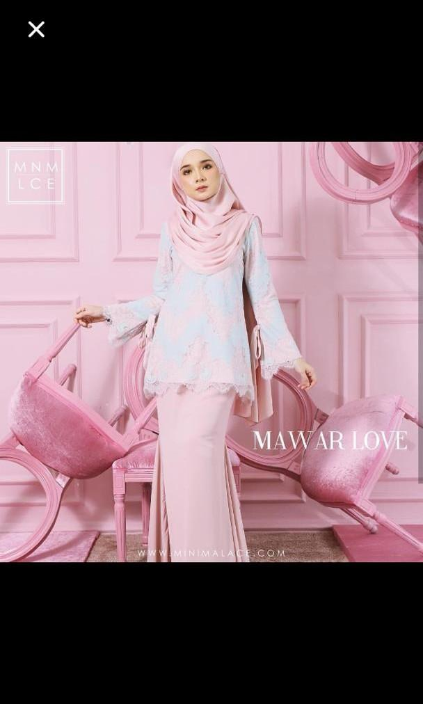 PRICE REDUCED !! Minimalace Mawar Love kurung