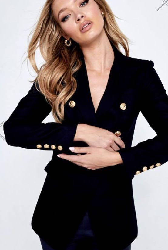 MOSSMAN The Signature Blazer in Black Size 8 - New with tags