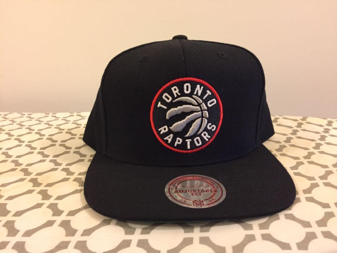 New Men's Toronto Raptors Mitchell & Ness Black Current Logo Wool Solid Snapback Adjustable Hat
