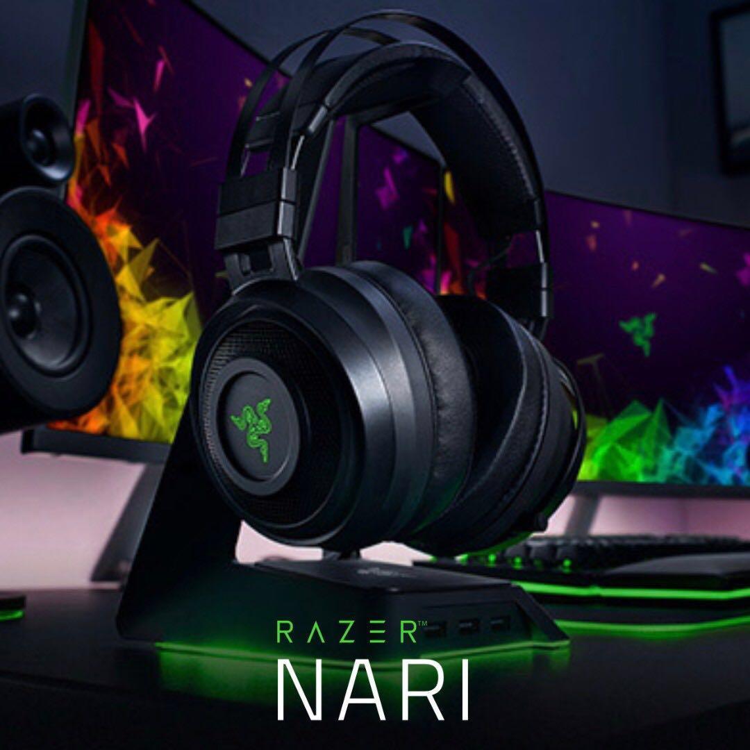 Razer Nari - Wireless Gaming Headset Headphone, Electronics