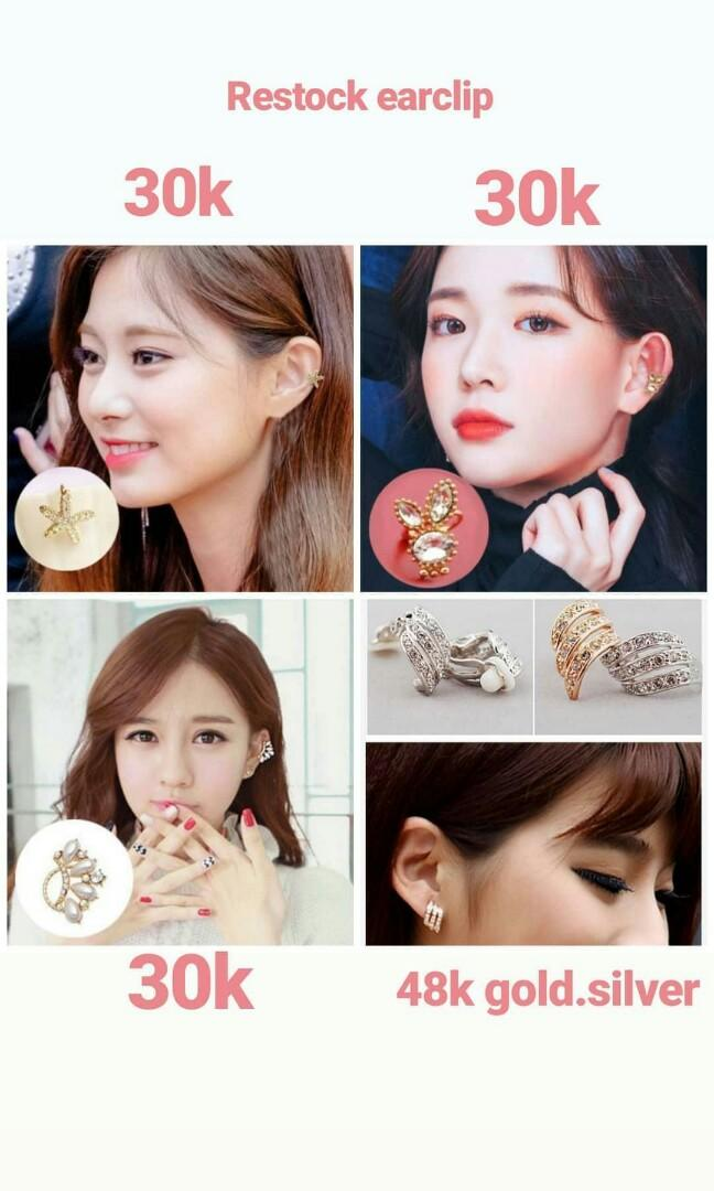 READYSTOCK anting earclip aksesoris jepitrambut jepit hairpin hairclip kalung gelang cincin earrings jaket kemeja bandana dress sepatu heels sandal tas foundation bbcream liptint eyeshadow mascara eyeliner rok dompet tshirt