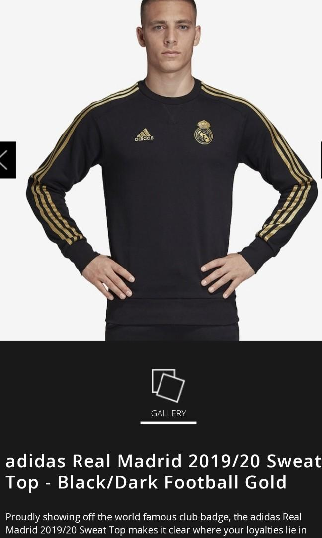 real madrid jersey black and gold