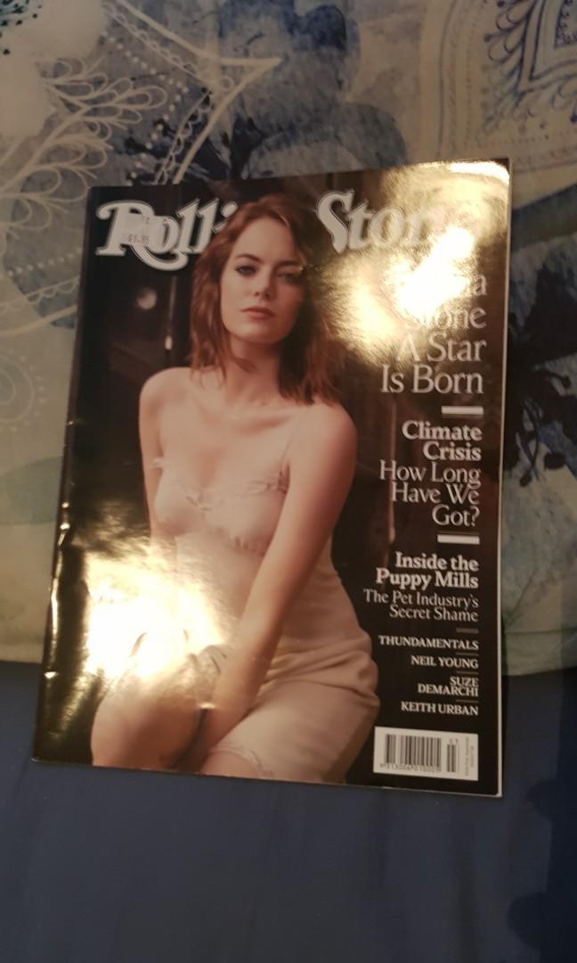 Rolling Stone Magazine. Emma Stone