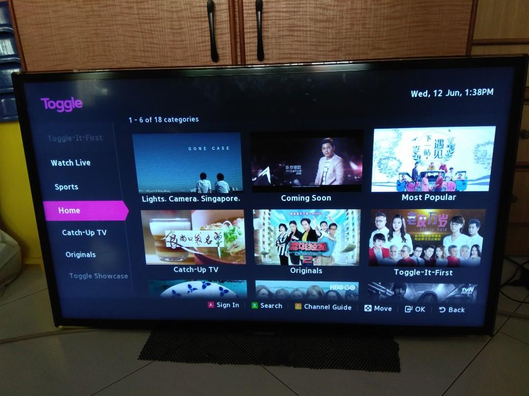 Samsung 40 inch LED Smart TV on Carousell