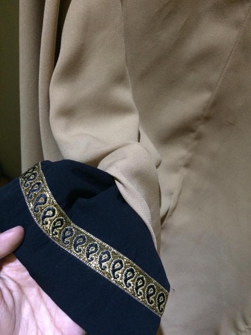 Set Abaya dan Khimar Antem