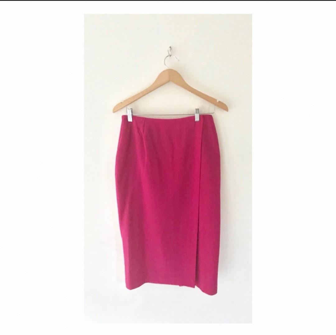Size 12: Magenta pencil skirt MASSIVE WARDROBE CLEAN OUT