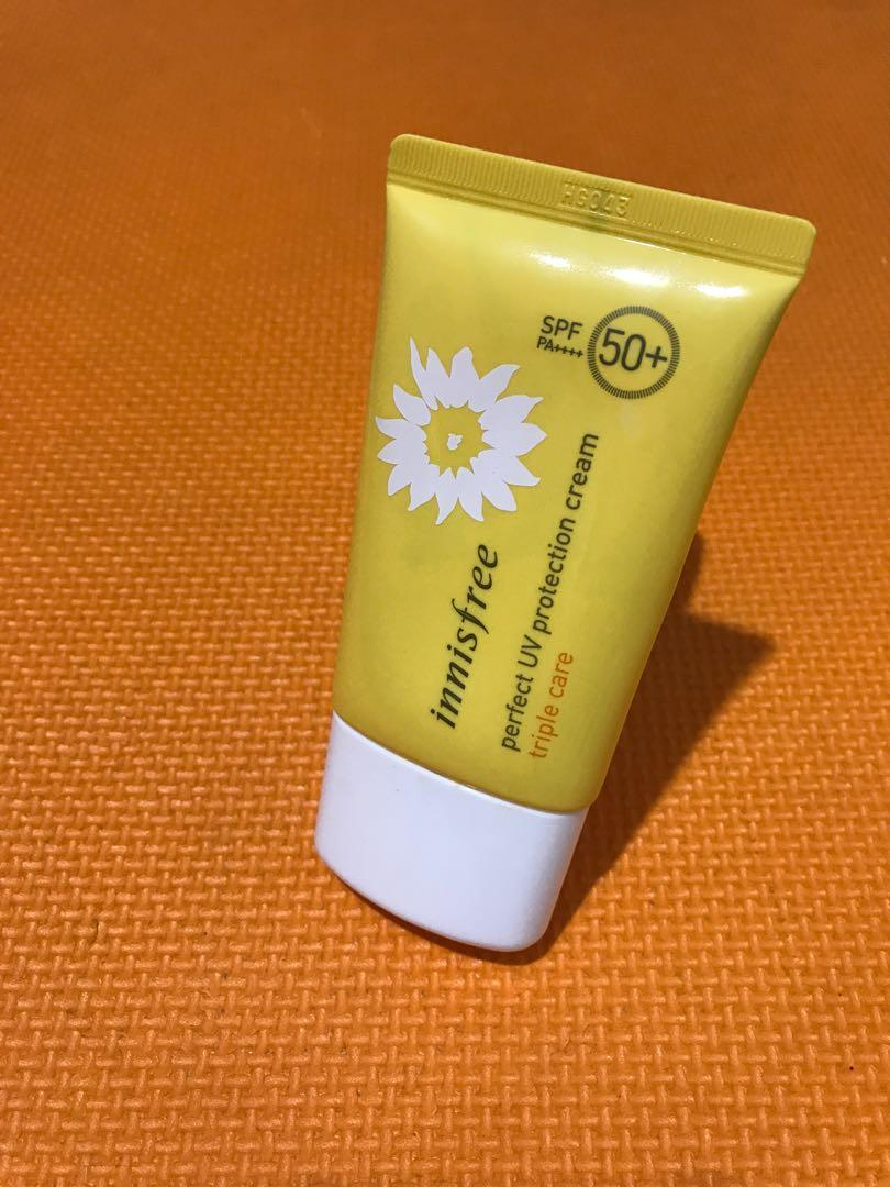 #SociollaCarousell Innisfree Perfect UV Protection Cream Triple Care SPF 50+ PA++++