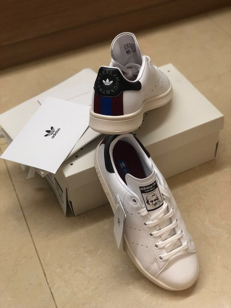 reputable site fe1de 577db Stella McCartney x Adidas Stan Smith Faux Leather Trainer Size 37