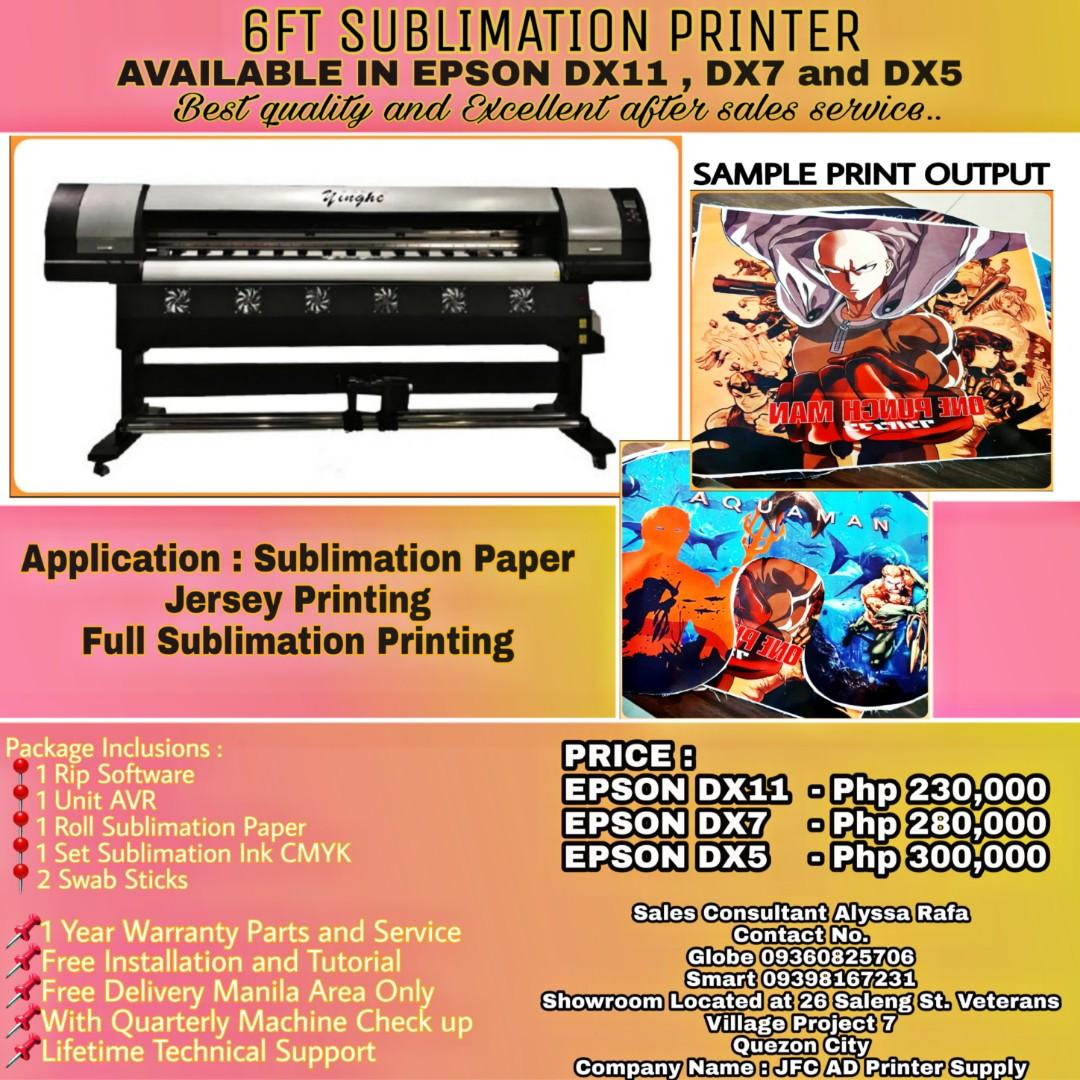 Sublimation Printer for Jersey on Carousell