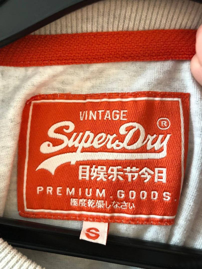 SuperDry Grey Tshirt Size S (Authentic)