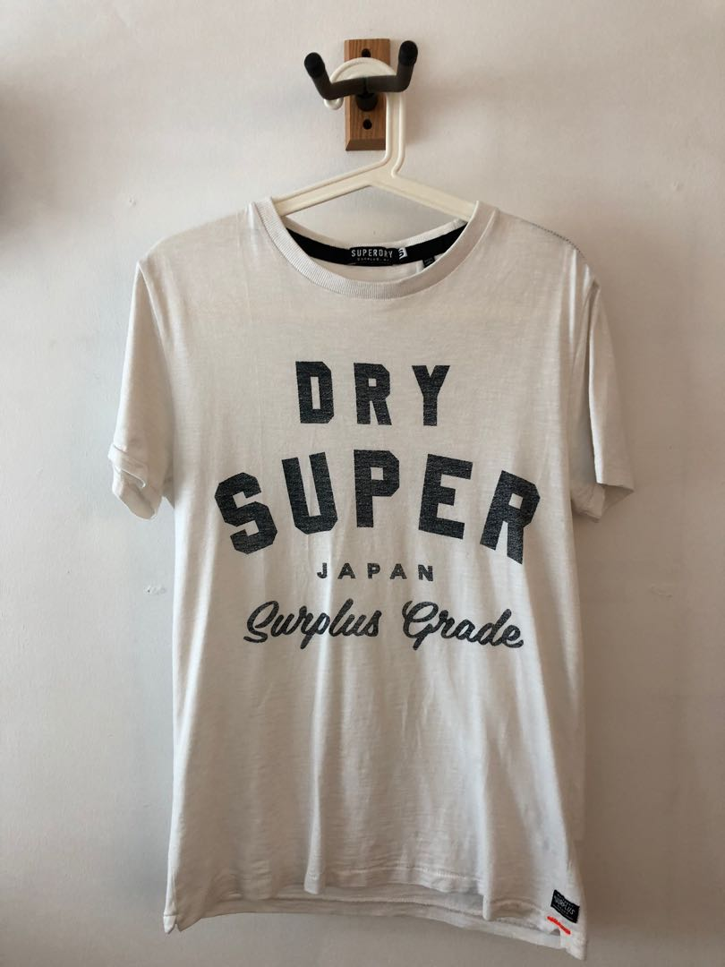 SuperDry White Tshirt Size S (Authentic)