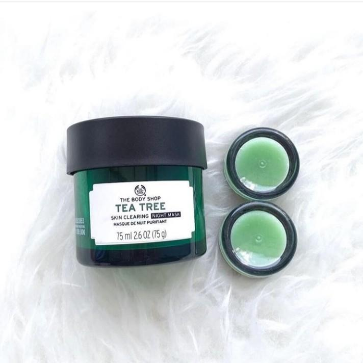 The body shop clearing night mask tea tree