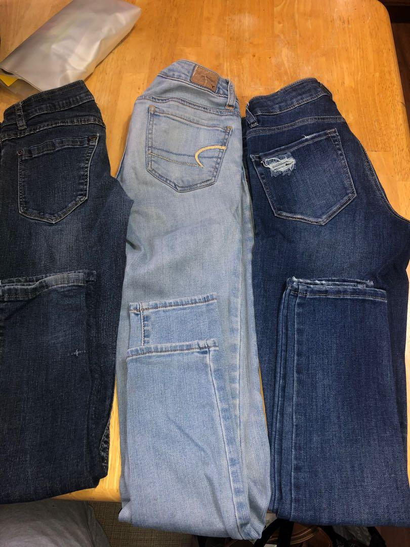Three pairs of jeans $10 each, message if you have any questions