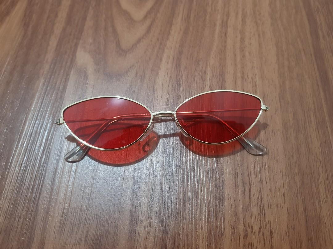 Vintage disco red glasses