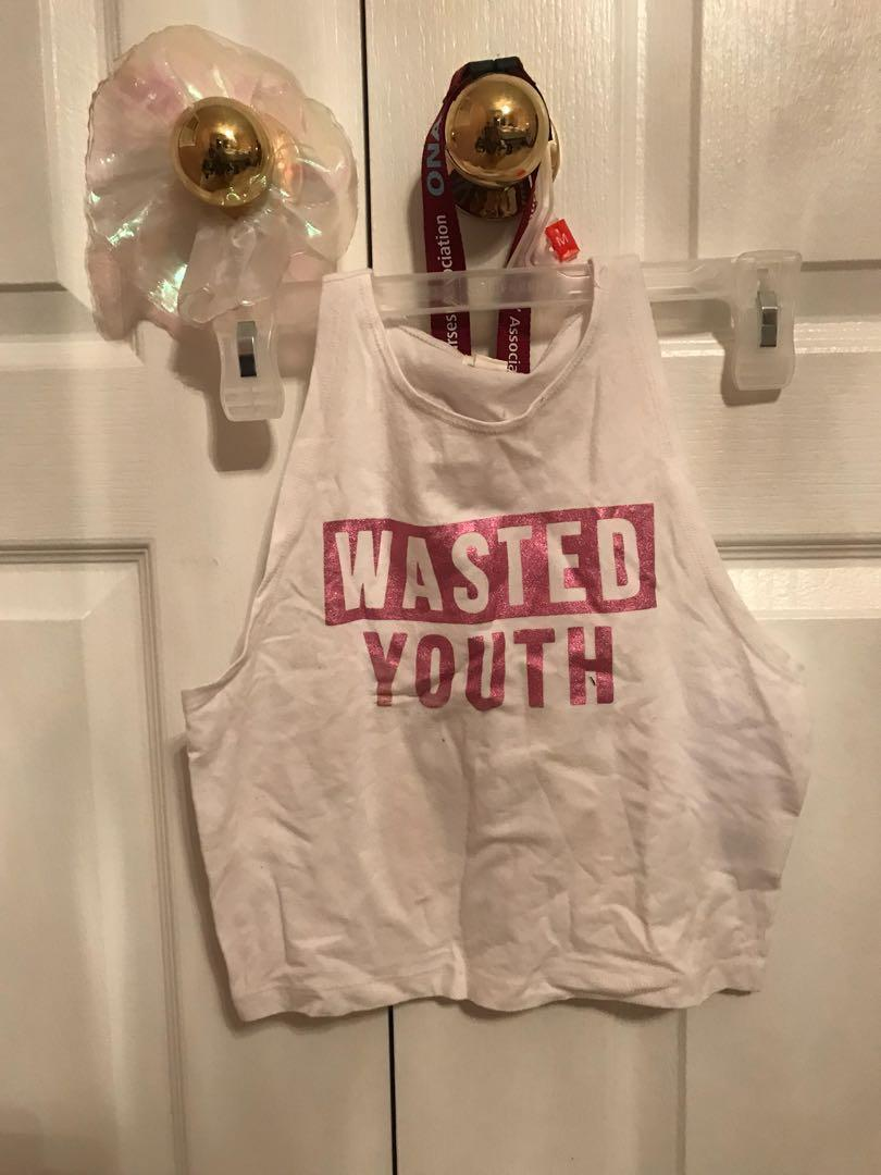 wasted youth crop top