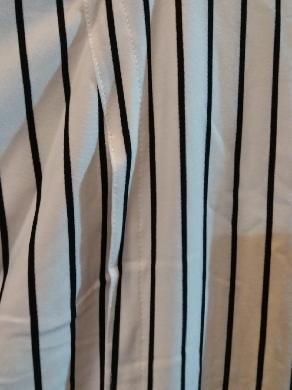 White stripe oversized blouse
