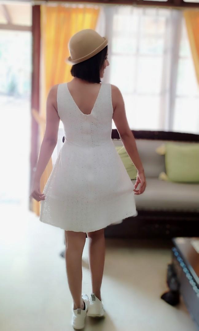White Summer Dress Brokat