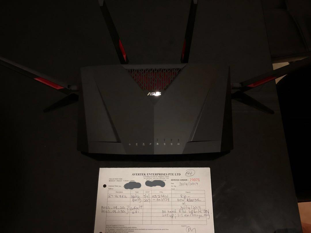 Wifi Router Asus RT-AC88U, with on-site setup