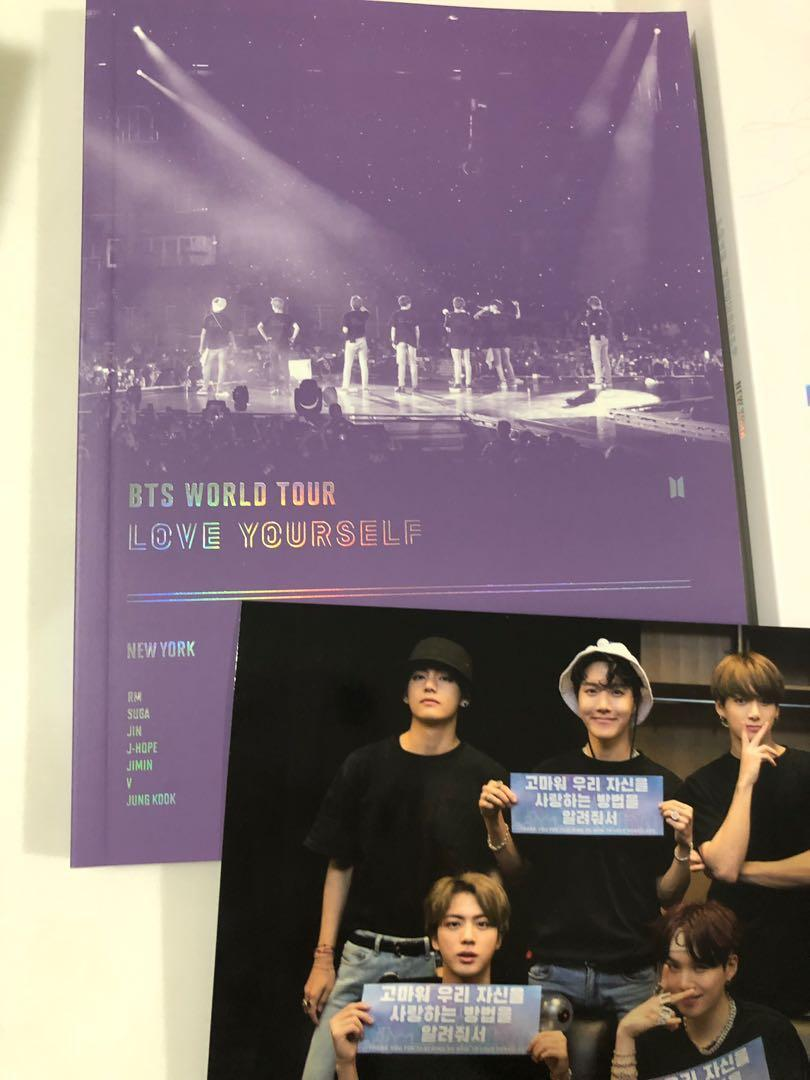 [WTS/LOOSE] BTS LOVE YOURSELF TOUR IN NEW YORK DVD / DIGIPAK / POSTCARD