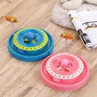 (現貨)貓玩具貓軌道貓咪遊戲盤逗貓軌道盤