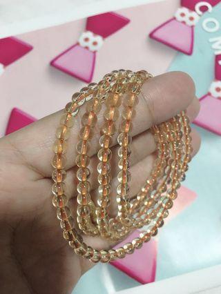 天然特级黄水晶四圈💰 Citrine Bracelet/Necklace 4M