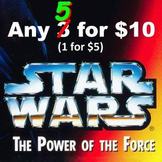 "SALES! Further Reduction! Star Wars 3.75"" Power of The Force / Expanded Universe / Prequel Action Figures. Any 5 for $10. Any 1 for $5. Offer on individual piece pls."