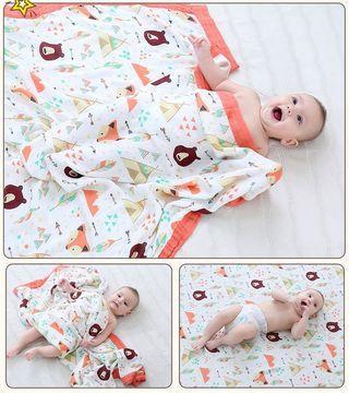 🦄生活小物🌻嬰兒寶寶四層竹棉包巾被毯兒童竹纖維夏涼被